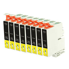 8 Black ink Cartridge Replace for Epson Stylus Photo 2100 2200 Printer