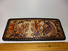 North Star Horse In The Leaves Genuine Leather Laced Wallet-Made In The USA