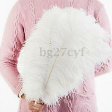 10pcs Large White Ostrich Feathers 30-35cm Wedding Party Costume Mask Hat Craft