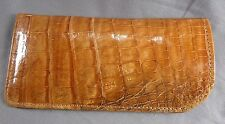 NEW GENUINE HANDMADE COGNAC ALLIGATOR - CROCODILE DELUXE EYEGLASSES CASE 2