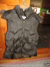 NWOT ROPER DOWN VEST hooded faux fur trim BROWN WOMEN SIZE SMALL NEW