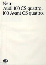 Audi   Prospekt 1984   Audi 100 CS Quattro   Avant CS Quattro