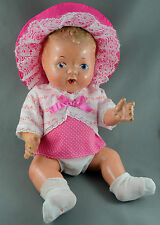 Reliable Wetums Baby Doll Composite 12in Drink Wet c1930s Canada Jointed Nurser