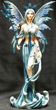 """WATER  FAIRY   with Trident   Statue Figurine  H10"""""""
