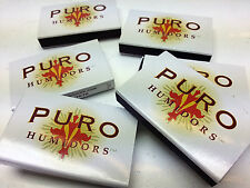 "6 small boxes of the 2"" promotional matches with the Premium Puro cigar Humidors"