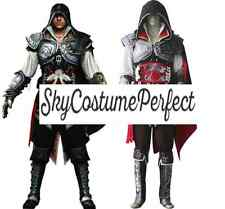 New Assassin's Creed II Ezio Auditore da Firenze Cosplay Costume A+ FREE SHIP