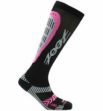Zoot Recovery Socks 2.0 CRx Compression Sock- Black/Pink Glow ~Size 2