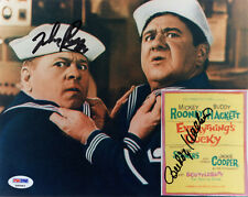 MICKEY ROONEY & BUDDY HACKETT DUAL SIGNED AUTOGRAPHED 8x10 PHOTO RARE PSA/DNA