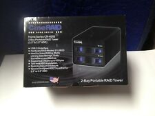 CineRAID Home 2 Bay SATA/SSD RAID Box w/Built-In Hardware RAID USB 3.0 up to 6TB