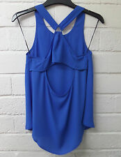 Womens Ladies New Sleeveless Open Back Loop Top/Blouse Sizes 8-18 4 COLOURS