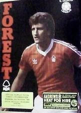 THE NOTTINGHAM FOREST v P.S.V. EINDHOVEN OF HOLLAND 83-84 U.E.F.A. CUP