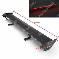 Universal Hatch Aluminum GT Rear Trunk Wing Racing Spoiler With Red Light B #D2