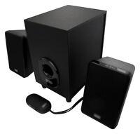 80 WATT 2.1 Lautsprecher System Design Soundsystem Box Boxen Computer PC Laptop