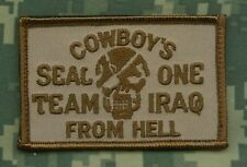 Jsoc Afghanistan Theater Seal Team One Iraq Vel©®⛄ Patch: Cowboys from Hell