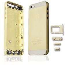 pour IPhone 5 Coque arrière Couvercle De Batterie Boîtier étui blanc doré
