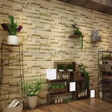 3D Wall Paper Vinyl Brick Stone Effect Living Room TV Background Home Decor Roll