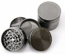 Chromium Crusher 2.2 Inch 4 Piece Tobacco Herb Grinder - Gun Metal