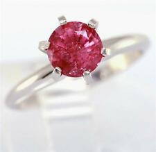 1.54ct Genuine Pink Tourmaline Solitaire 14K Solid White Gold Ring FREE SHIPPING