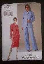 Vogue Woman V7835 Jacket Blazer Skirt Pants Suit Pattern 8-10-12 Advanced Uncut