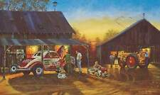 """Dave Barnhouse """" Saturday Night Special """" Artist Proof Paper 140/195 Classic Car"""