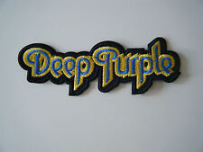 DEEP PURPLE PATCH Embroidered Iron On Sew On Classic Rock Heavy Metal Badge NEW