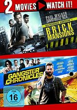 2 DVDs * 2 MOVIE - BRICK MANSIONS / GANGSTER CHRONICLES # NEU OVP §