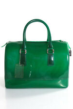 Furla Green Double Handle Candy Bag Satchel Handbag