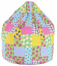 Child / kids Size Patchwork / Ladybirds Bean Bag With Beans By Bean Lazy