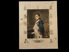 NICE FRENCH LARGE NAPOLEONIC FULL COLOR ETCHING PRINT 19TH CENTURY