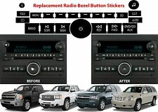 Replacement Radio Button Decals For 2007-2013 GM Vehicles New Free Shipping USA