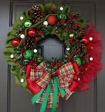 Green Red Berries Christmas Wreath Classic Wreath - Christmas Way