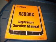Yamaha Shop Service Repair Manual 1976 XS500 C Supplemt