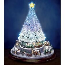 THOMAS KINKADE HOLIDAY COLOR CHANGING & MUSICAL CHRISTMAS TREE FIGURINE NEW