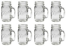 Bridal Wedding Set 8 USA BALL MASON 16oz Drinking Mugs Glasses Jars with Handles