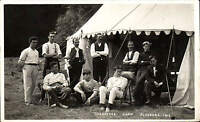 Fladbury Crusaders Camp 1914 by W.W. & R. Dowty, Pershore. Tent.