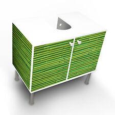 Design Waschbeckenunterschrank Schrank Waschtisch Unterschrank Bambus Grün edel