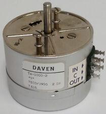 """Daven TA-1000-2 """"T"""" 7500/3900 Variable Attenuator 2 dB - *NEW*"""
