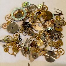 10g Grams STEAMPUNK WATCH PARTS Gears Wheels cogs vintage movements old pocket