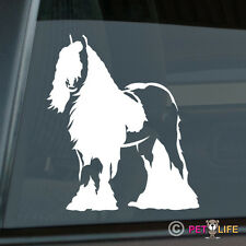 Gypsy Horse Sticker Die Cut Vinyl Ver 3 Irish Cob Coloured Tinker