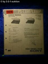 Sony Service Manual PS LX60 / LX60P Turntable System (#1674)
