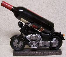 Wine Bottle Holder and/or Decorative Sculpture Motorcycle NIB