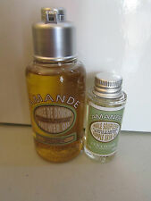 L'Occitane Travel Size 75ml Almond Shower Oil & a 15ml Supple Skin Oil
