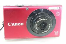 Canon Powershot A3400 IS 16MP 5x Zoom 3-inch LCD - Red - Spares or Repair