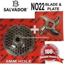 Salvador no22, 6mm PIASTRA TRITACARNE molatura e tritacarne Lama Coltello. 100% autentico.