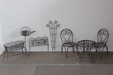 Minigarten braun, bestehend aus 7 Teilen♥H 6 - 13 cm♥Gartendeko f.d.Blumenschale
