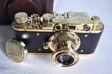 "Leica II German ""Leica Ernst Leitz Wetzlar"" in black and gold (copy by fed)"