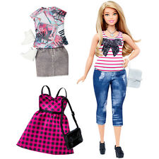 Barbie Fashionistas curvy doll with clothes DTF00 Everyday Chic, New