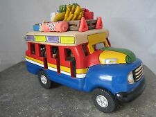 Mexican Folk Art Clay Fruits/Vegetables Passenger Animals Travel Truck/Car/Bus