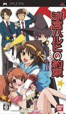Used PSP BANDAI Suzumiya Haruhi no Yakusoku  SONY PLAYSTATION JAPAN IMPORT