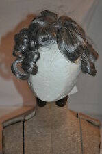 CLIP IN  ELURA Polymer spun hair GRAY CURLY HAIR WIG  extension costumesNWT